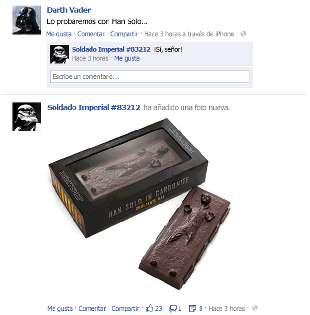 El Facebook de Star Wars - Emezeta